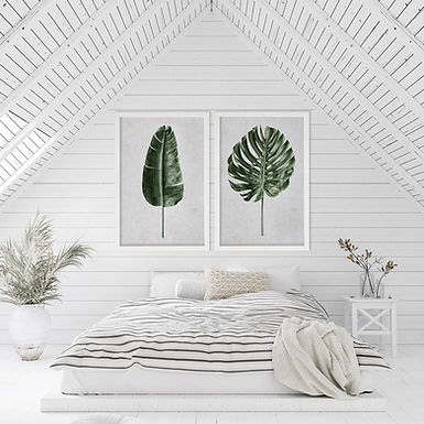 Tropical Leaves Wall Art Print Set | Collection 3