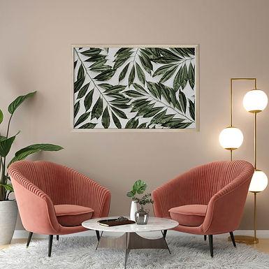 Tropical Leaves Wall Art   Single Print 10