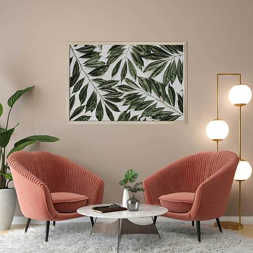 Tropical Leaves Wall Art | Single Print 10