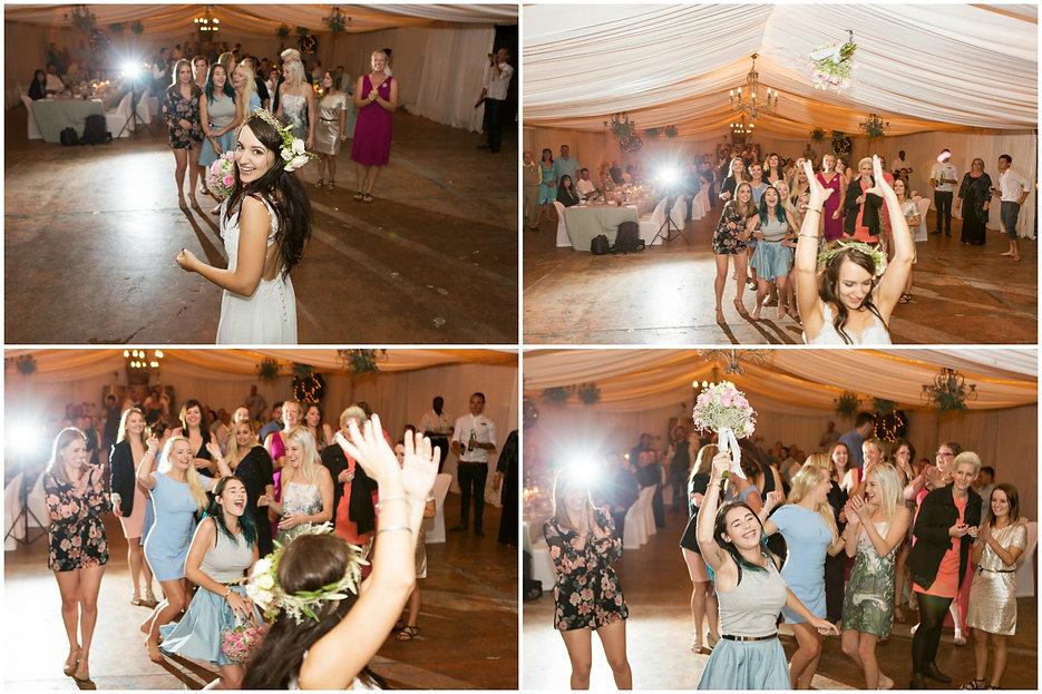 tossing bouquet, geelbek, langebaan wedding