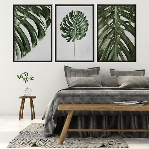 Tropical Leaves Wall Art Print Set | Collection 8