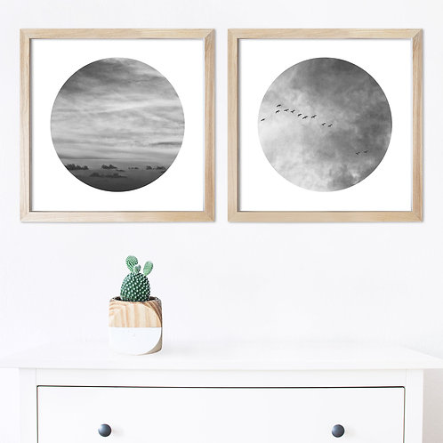Heart In The Sky Black & White Print Set | Collection 2