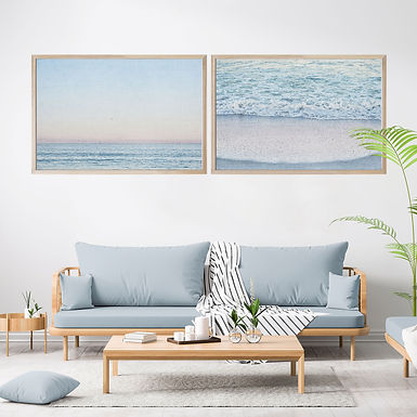 Ocean at Dawn Wall Art Print Set