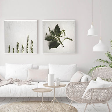Textured Greenery Print Set | Collection 2