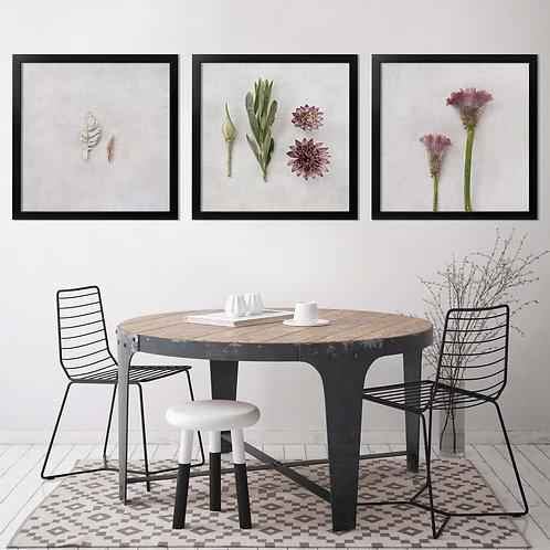 colourful botanical wall art print, botanical home decor, floral wall art, fynbos wall art