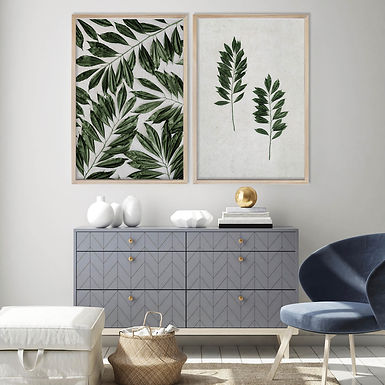 Tropical Leaves Wall Art Print Set   Collection 7