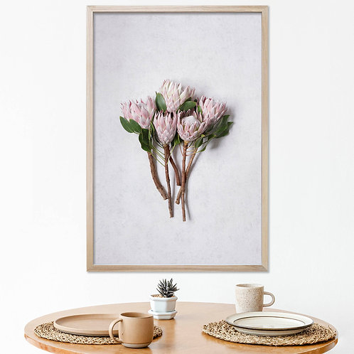 Blush Pink King Protea Wall Art | Single Print 4