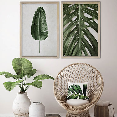 Tropical Leaves Wall Art Print Set   Collection 1