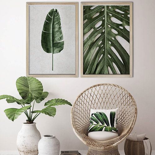 Tropical Leaves Wall Art Print Set | Collection 1