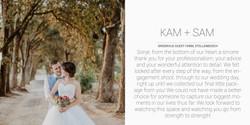 Kam + Sam Desktop Testimonial