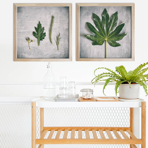 Green & Grey Print Set | Collection 1
