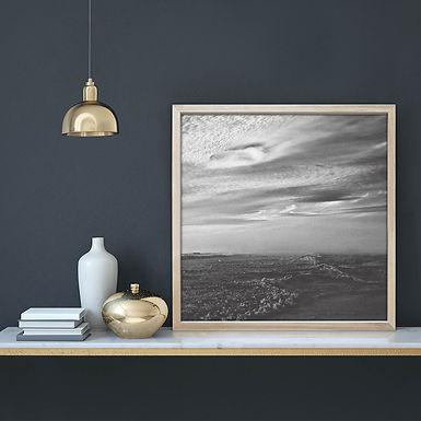 Stormy Seas Wall Art Print | Black & White