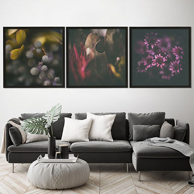 Moody Florals Print Set