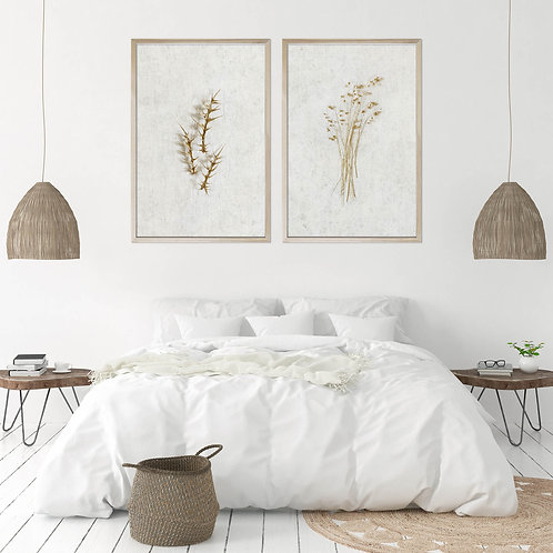 Dried Botanicals Wall Art Print Set | Collection 2