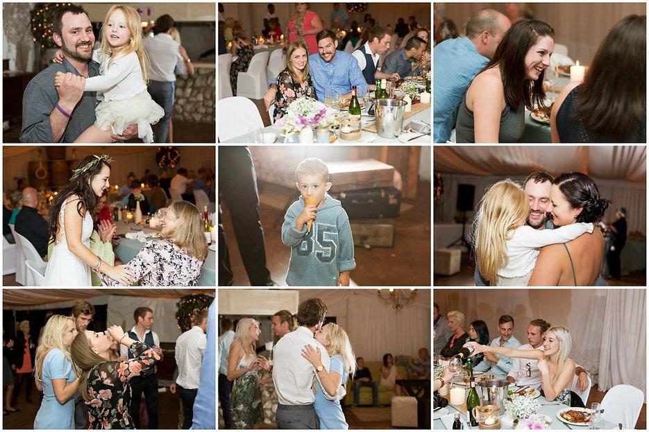 bride and groom cutting cake, geelbek restaurant weddings