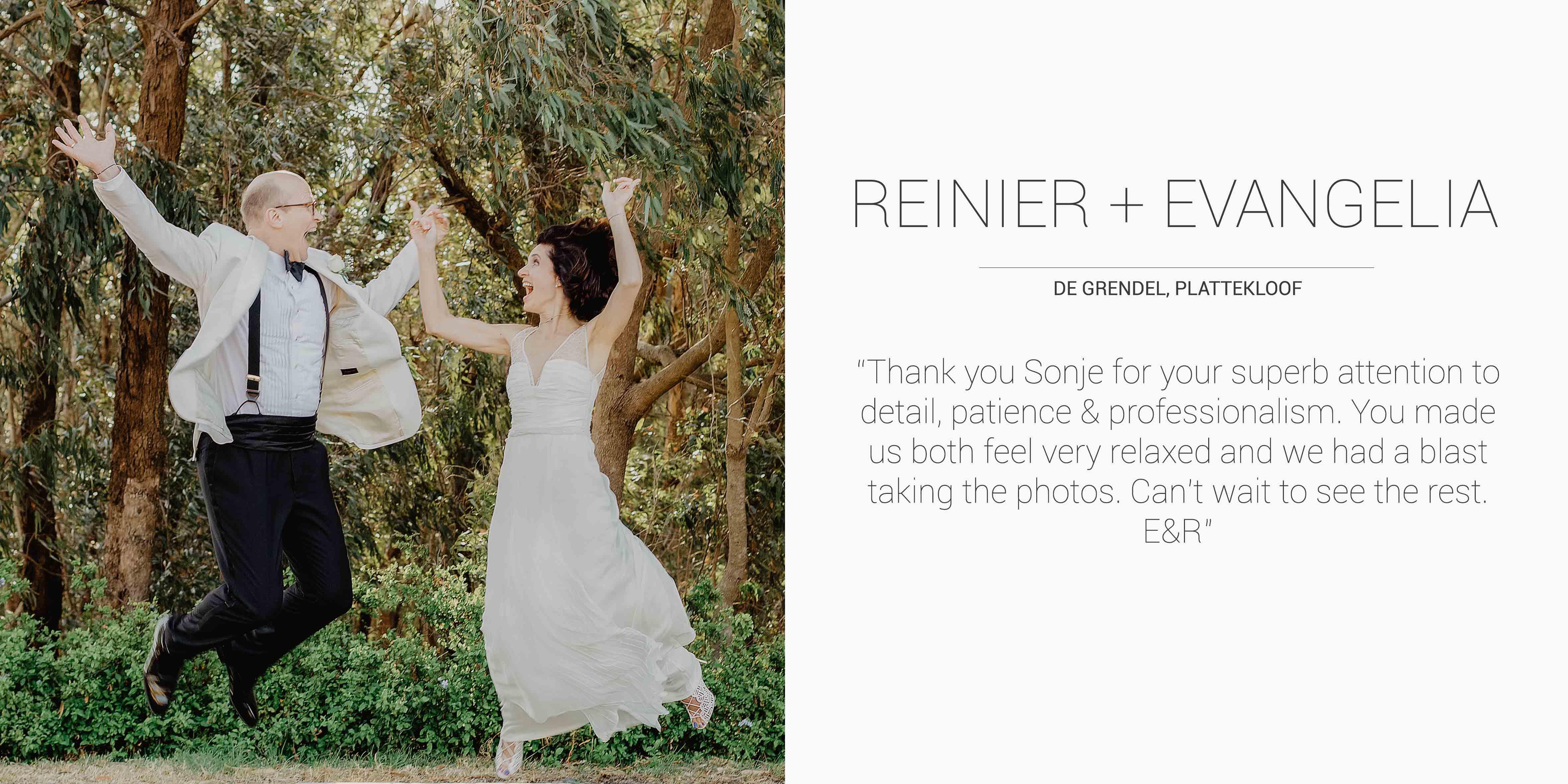 Reinier + Evangelia Desktop Testimonial.