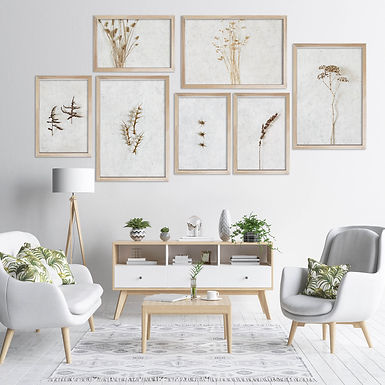 Dried Botanicals Wall Art Print Set | Collection 5