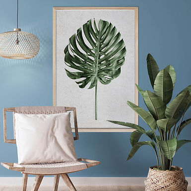 Tropical Leaves Wall Art   Single Print 1