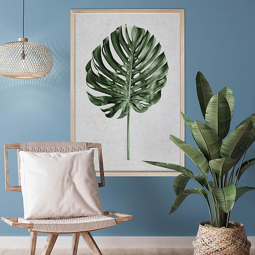 Tropical Leaves Wall Art | Single Print 1