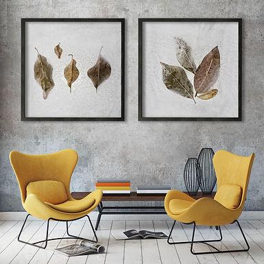 Frozen Leaves Print Set | Collection 1