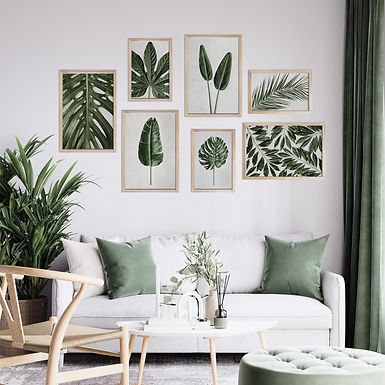 Tropical Leaves Wall Art Print Set | Collection 15