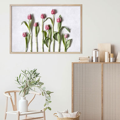 Pink Tulips Wall Art   Single Print 3