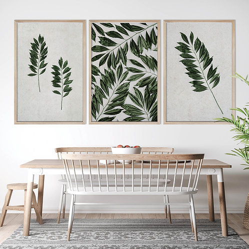 Tropical Leaves Wall Art Print Set | Collection 9