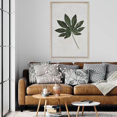 Tropical Leaves Wall Art | Single Print 7