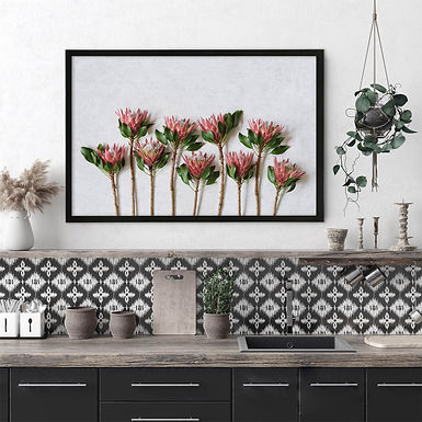 Red King Protea Wall Art | Single Print 1
