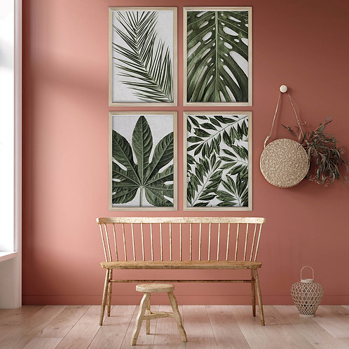 Tropical Leaves Wall Art Print Set | Collection 13