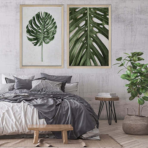Tropical Leaves Wall Art Print Set   Collection 4
