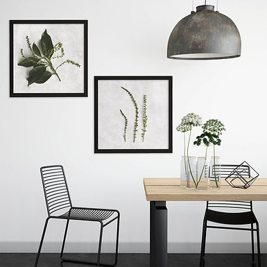 Textured Greenery Print Set   Collection 4