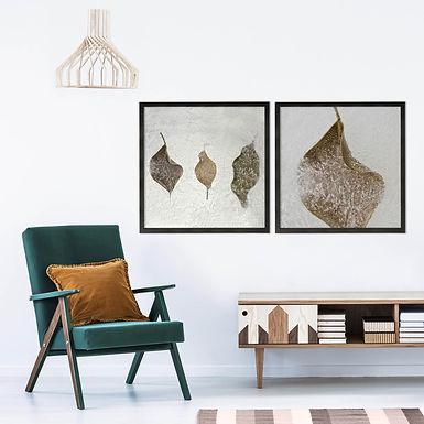 Frozen Leaves Print Set | Collection 3