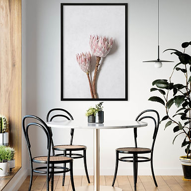 Blush Pink King Protea Wall Art   Single Print 9