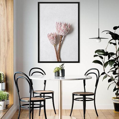 Blush Pink King Protea Wall Art | Single Print 9