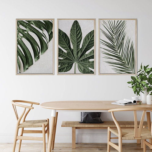Tropical Leaves Wall Art Print Set   Collection 10