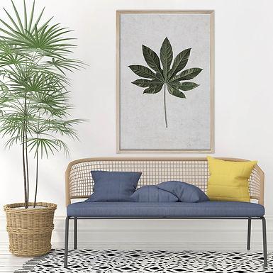 Tropical Leaves Wall Art   Single Print 5