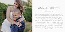 Jamian + Kristen Desktop Testimonial