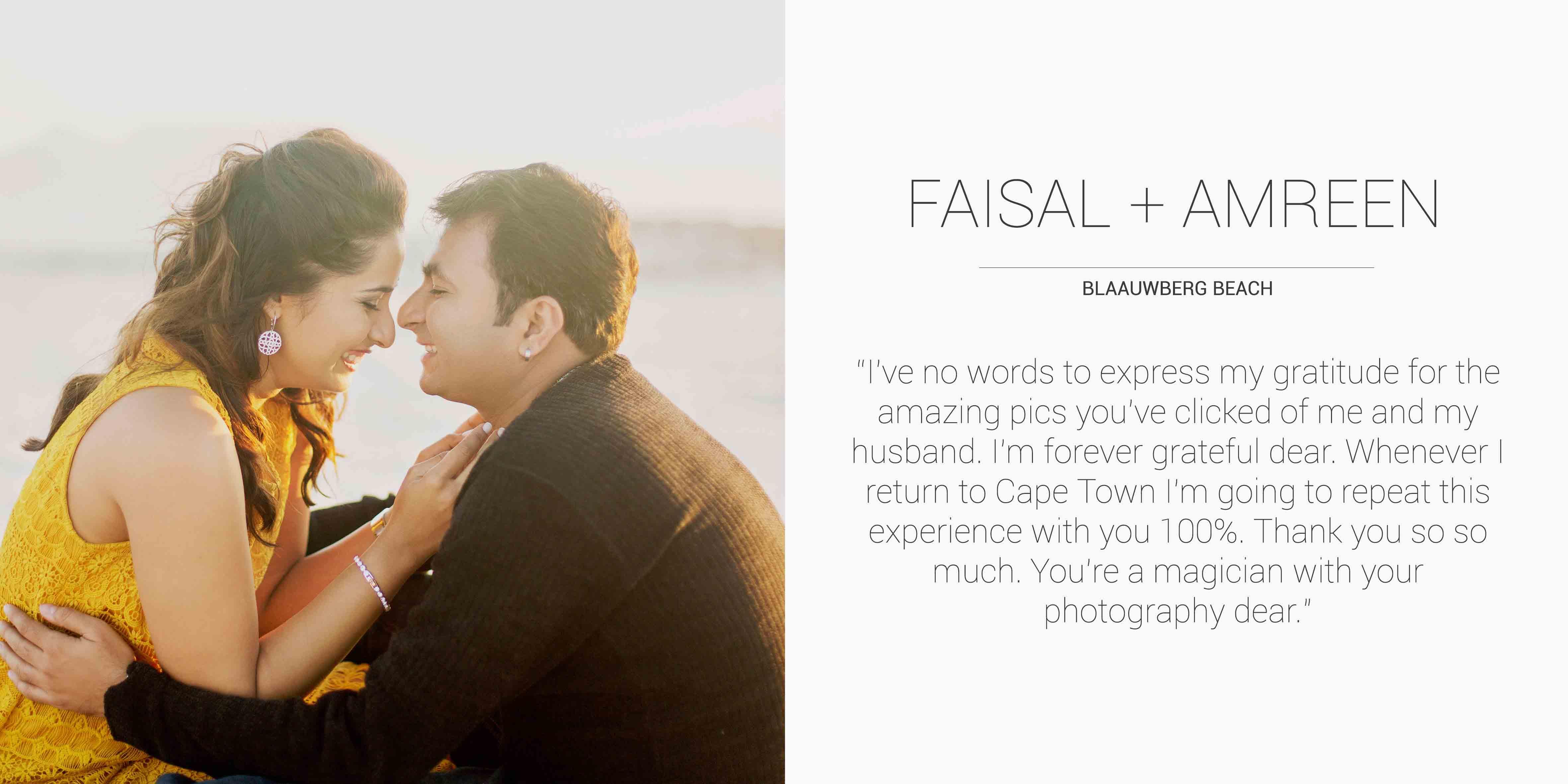 Faisal + Amreen Desktop Testimonial
