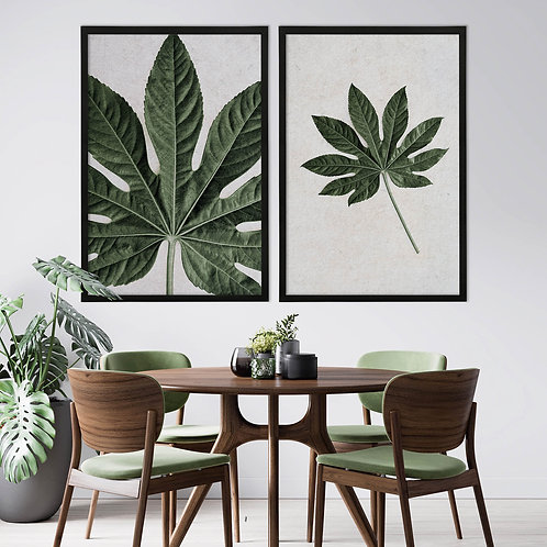 Tropical Leaves Wall Art Print Set | Collection 5
