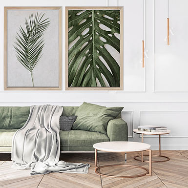 Tropical Leaves Wall Art Print Set   Collection 2