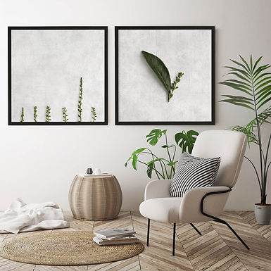 Textured Greenery Print Set | Collection 3