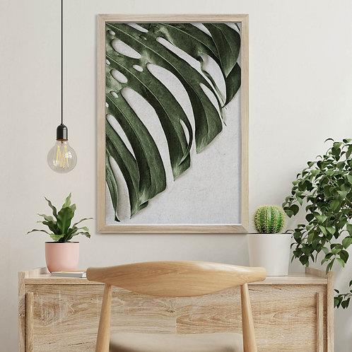 Tropical Leaves Wall Art | Single Print 2