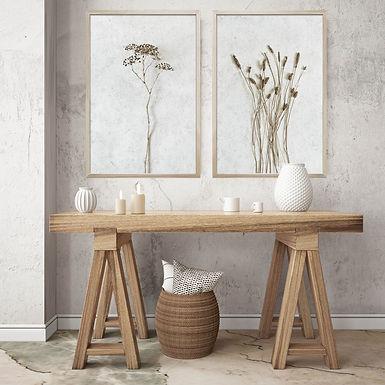 Dried Botanicals Wall Art Print Set | Collection 1