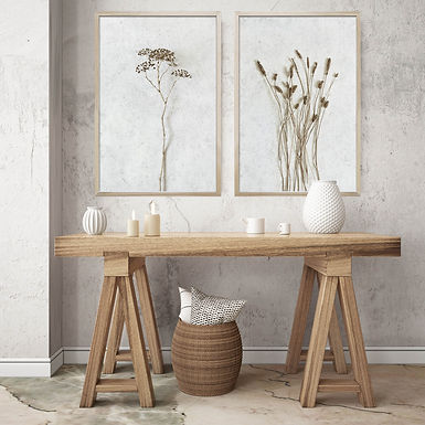 Dried Botanicals Wall Art Print Set | Collection 1