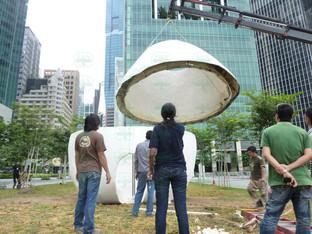 giant easter egg sculpture