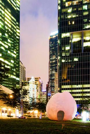 giant egg sculpture