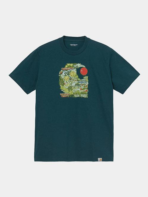 Treasure C Tshirt deep lagoon