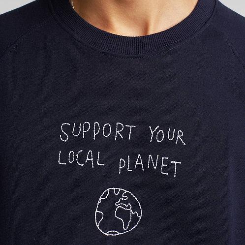 Felpa local planet blu