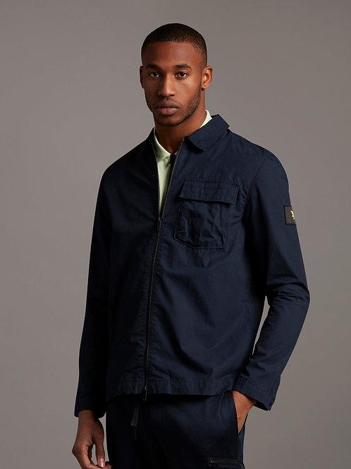 Zip trough overshirt blu